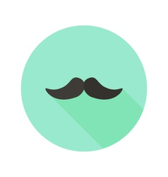 Hipster Mustache Flat Icon vector image vector image
