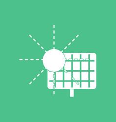 Icon solar energy vector