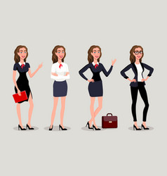 isolatede elegant pretty business woman in formal vector image