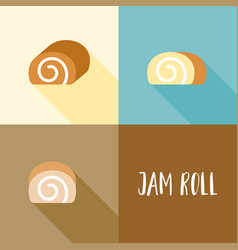 jam roll in various type vector image