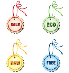 Labels for design sales and promotions vector image