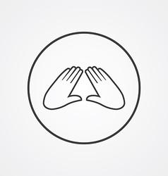 massage outline symbol dark on white background vector image vector image