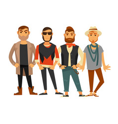 men different clothes man fashion models casual vector image