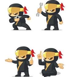Ninja Customizable Mascot 14 vector image vector image