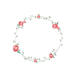 Rose Round Wreath vector image vector image