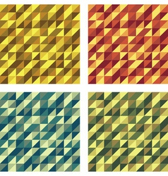 Set of colorful geometric seamless textures raster vector