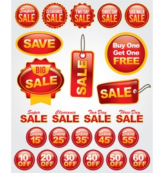 Set of retail sale labels vector