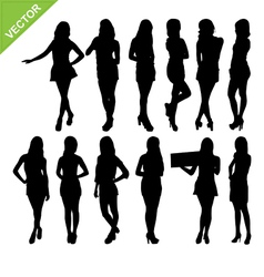 Sexy women silhouettes vector image vector image