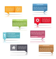 Speech bubbles with text vector