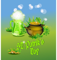 St Patrick s Day greeting card vector image vector image