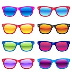 Sun glasses set vector