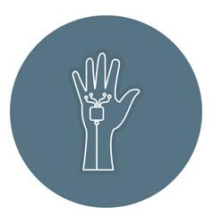 virtual reality glove technology vector image