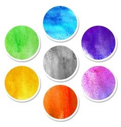 Watercolor hand painted circles vector
