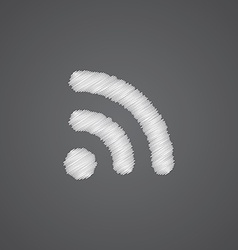 Wireless sketch logo doodle icon vector