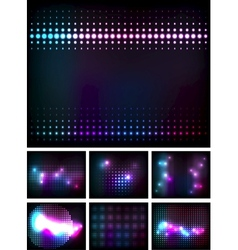 Disco lights vector