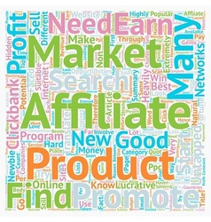 How earn money from untapped affiliate markets vector