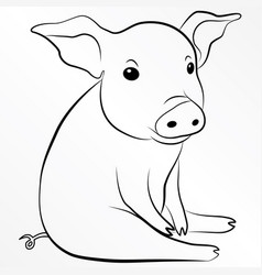 Pig piglet piggy swine hog eps 10 vector
