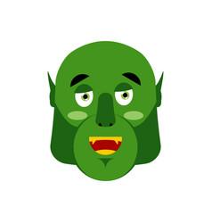 Ogre happy emoji goblin merry emotion isolated vector
