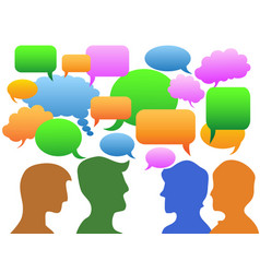 people communication in speech bubble vector image