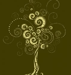 tree shape from twirls vector image