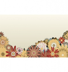 flower foreground vector image