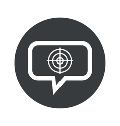 Round aim dialog icon vector