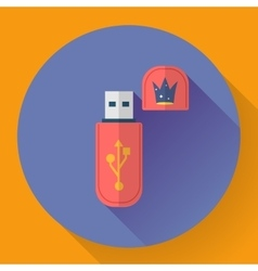 Usb flash drive web icon vector