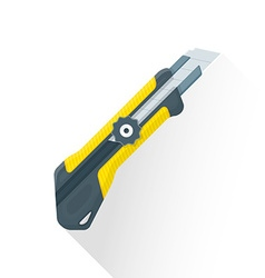 Flat construction stationary knife icon vector
