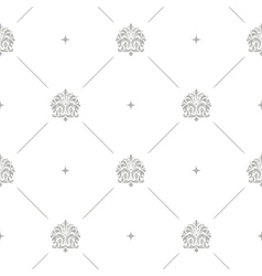 Baroque damask seamless background vector