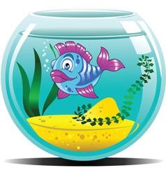 Blue aquarium vector