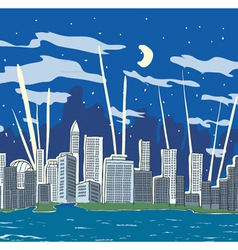 Cartoon city vector