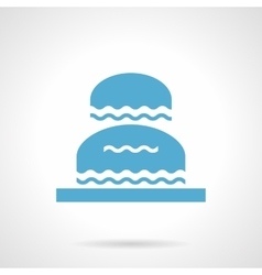 Flowing fountain glyph style icon vector