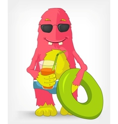 Funny Monster Beach vector image