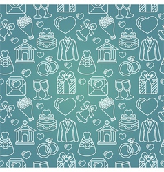 Seamless pattern with wedding icon vector
