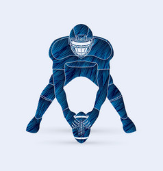 american football prepare ready to fight vector image