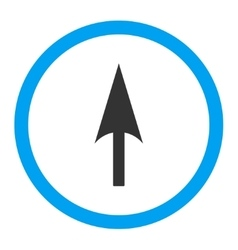 Arrow axis y flat blue and gray colors rounded vector