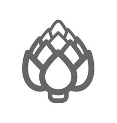 artichoke outline icon vegetable vector image vector image
