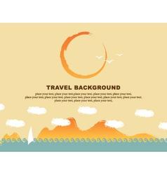 Background travel vector