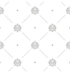 Baroque damask seamless background vector
