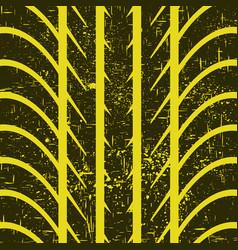 big black tire track vector image