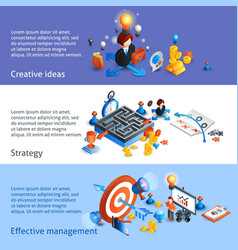 Business Strategy Isometric Banner vector image vector image