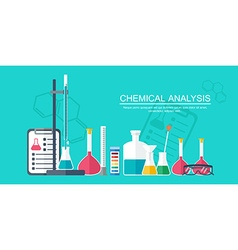 Chemical banner background cover Analytical vector image vector image