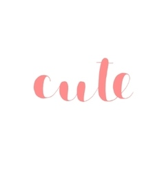 Cute Brush lettering vector image vector image
