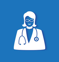 doctor icon vector image