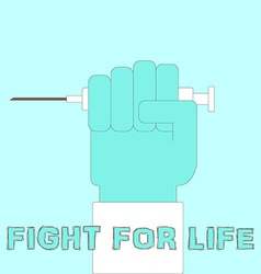 doctors hand with syringe vector image vector image