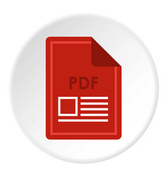 File pdf icon circle vector