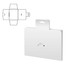 Folding pack white vector