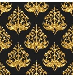 Golden gritter seamless pattern background vector image vector image