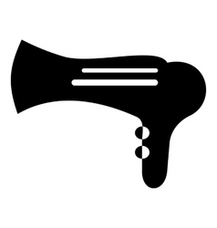 Hairdryer icon simple style vector image