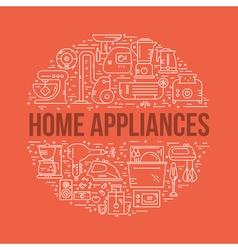 Home electronics concept vector